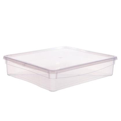 Ящик универсальный 33.5х8.5x40 см 9 л пластик цвет прозрачный