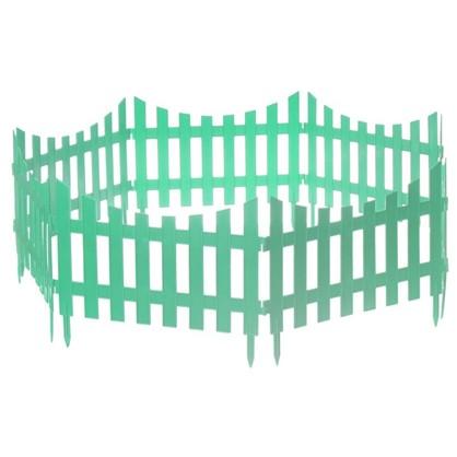 Забор декоративный №7 3 м цвет зелёный цена