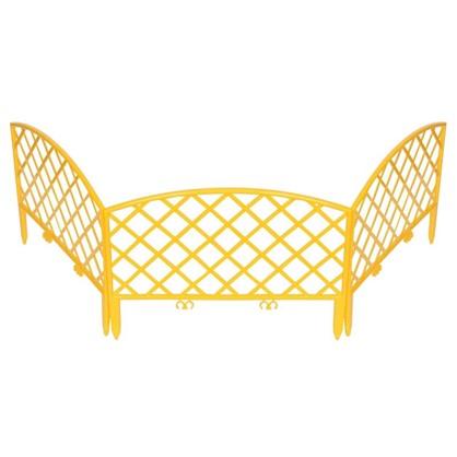 Забор декоративный Плетёнка 3.2 м цвет жёлтый цена