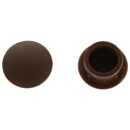 Заглушка для дверных коробок 14 мм полиэтилен цвет коричневый 20 шт. цена