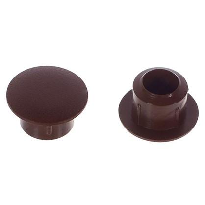 Заглушка на отверстие 8 мм полиэтилен цвет коричневый 40 шт. цена