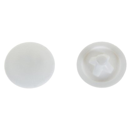 Заглушка на шуруп PZ 3 12 мм полиэтилен цвет белый 50 шт. цена