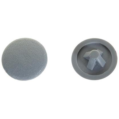 Заглушка на шуруп PZ 3 15 мм полиэтилен цвет серый 50 шт. цена