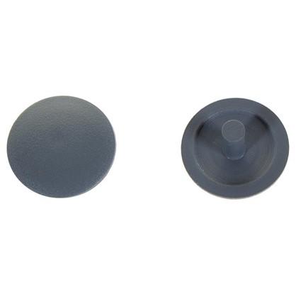 Заглушка на шуруп-стяжку PZ 5 мм полиэтилен цвет серый 40 шт. цена