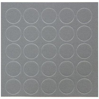 Заглушка самоклеящаяся 14 мм меламин цвет алюминий 25 шт.