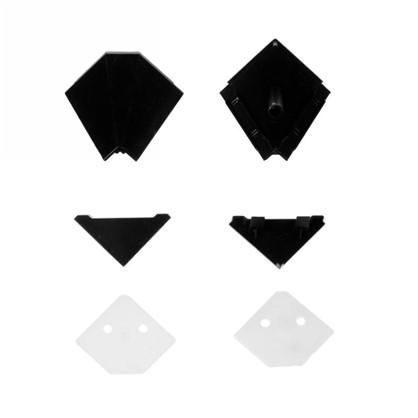 Заглушки к плинтусу 4х5 см цвет черный 6 шт. цена