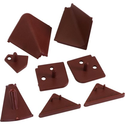 Заглушки к плинтусу 4х5 см цвет коричневый 6 шт.