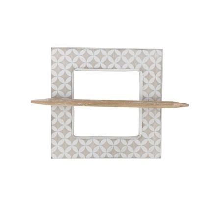 Заколка для штор Луиса 14.5х14.5 см цвет натуральный/белый цена