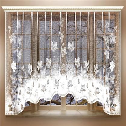 Занавеска на ленте Листва 260х160 см цвет белый цена