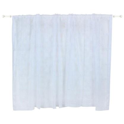 Занавеска на ленте Соты 250х160 см цвет белый
