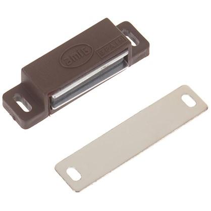 Защелка магнитная Amig Модель 10 58х15 мм пластик цвет коричневый цена