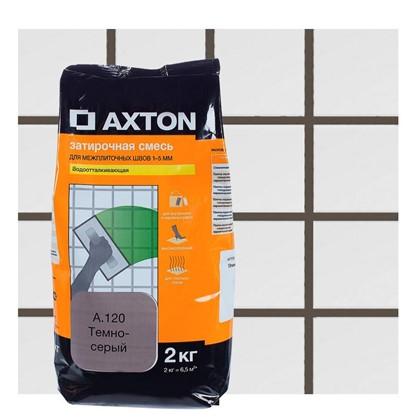Цементная затирка Axton А.120 2 кг цвет темно-серый цена