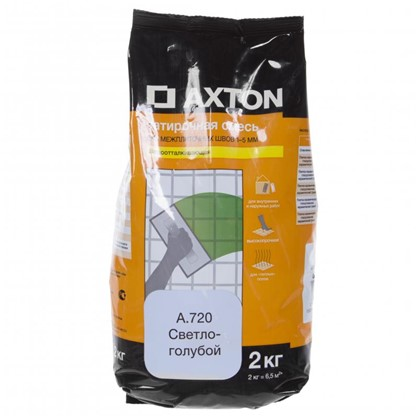Цементная затирка Axton А.720 2 кг цвет светло-голубой цена