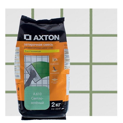 Цементная затирка Axton А.610 2 кг. цвет светло-зеленый цена