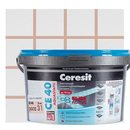 Цементная затирка Ceresit СЕ 40 водоотталкивающая 2 кг цвет роса цена