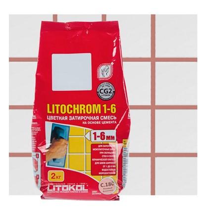 Цементная затирка Litochrom 1-6 С.180 2 кг цвет розовый цена