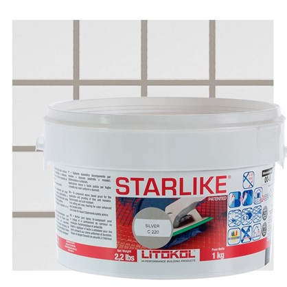 Эпоксидная затирка Litochrom Starlike C220 1 кг цвет светло-серый