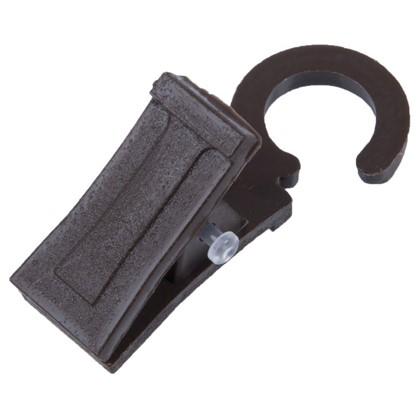 Зажим для колец 28 мм пластик цвет коричневый 20 шт.