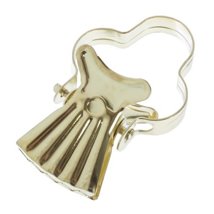 Зажим для колец для тяжелых штор металл цвет золото 10 шт. цена