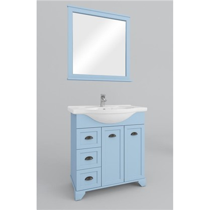 Зеркало Шарм 75 см цвет голубой цена