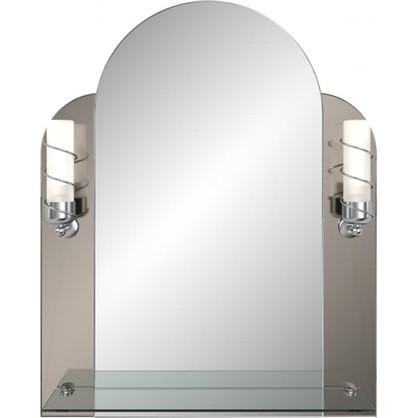 Зеркало Венеция с подсветкой и полкой 53 см цена
