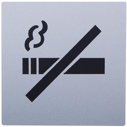 Знак дверной Не курить Larvij самоклеящийся цвет серебро цена