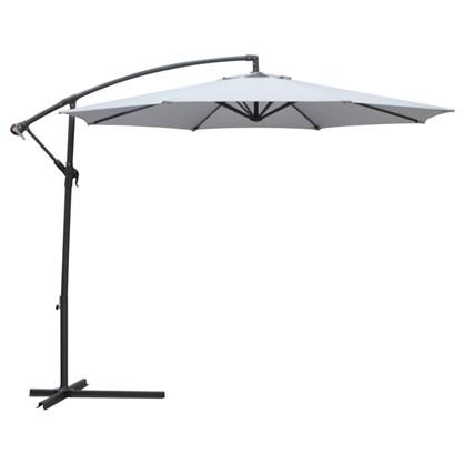 Зонт дачный 3 м серый подвесной на подставке сталь цена