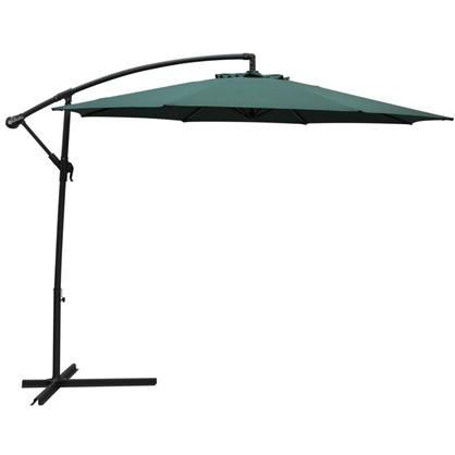 Зонт дачный 3 м зелёный подвесной на подставке сталь/алюминий