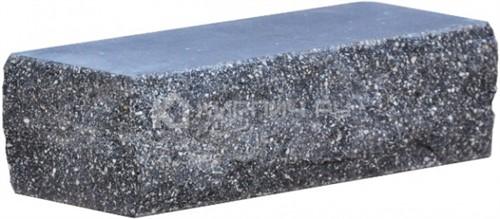 Кирпич одинарный М-250 антрацит рустированный угол