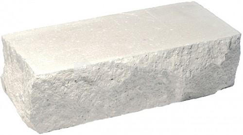 Кирпич одинарный М-250 белый рустированный угол в