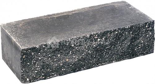 Кирпич гиперпрессованный одинарный М-250 черный рустированный ложок