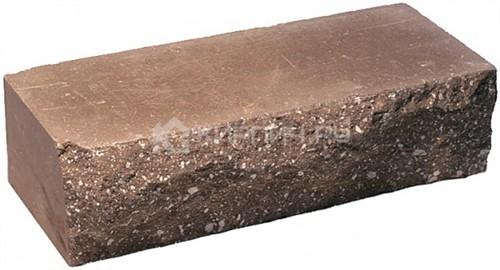 Кирпич гиперпрессованный одинарный М-250 коричневый рустированный ложок цена