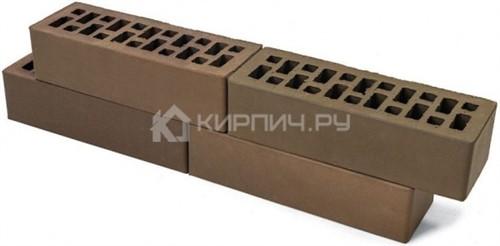 Кирпич для фасада баварская кладка Мокко евро гладкий М-150 Браер в