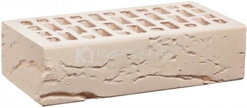 Кирпич  М-150 белый одинарный кора дерева КС-Керамик