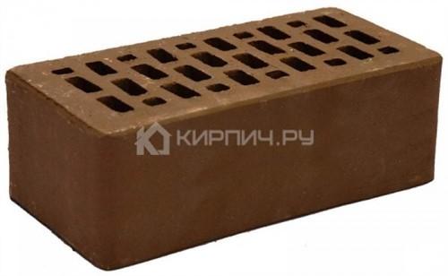 Кирпич для фасада какао полуторный гладкий М-150 Терекс