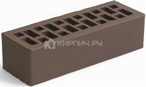 Кирпич облицовочный коричневый евро гладкий М-150 в