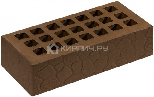 Кирпич для фасада коричневый одинарный черепаха М-150 Саранск