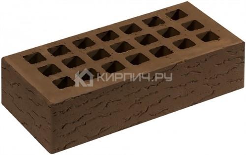 Кирпич облицовочный коричневый одинарный кора дуба М-150 Саранск цена