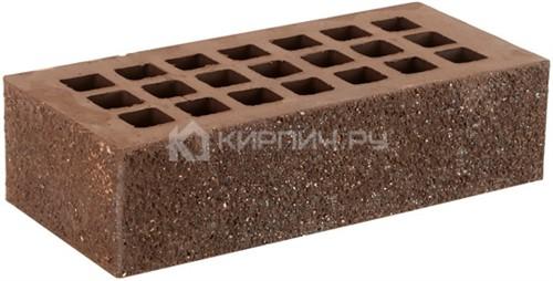 Кирпич облицовочный коричневый одинарный пена алмаз М-175 ЖКЗ