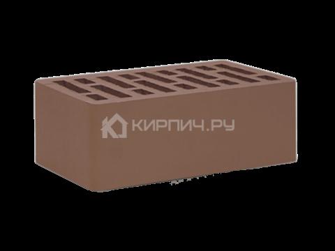 Кирпич облицовочный коричневый полуторный гладкий М-150 СтОскол