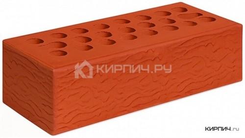Кирпич для фасада красный евро рустик М-150 Керма