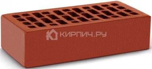 Кирпич облицовочный красный одинарный гладкий М-150 КС-Керамик в