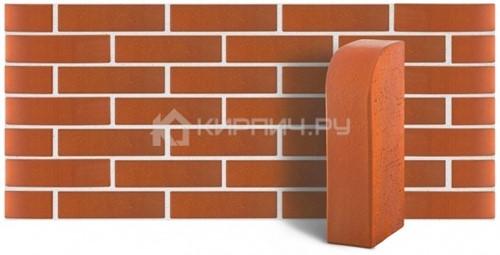 Кирпич для фасада красный одинарный гладкий полнотелый угловой R-60 М-400 ЛСР