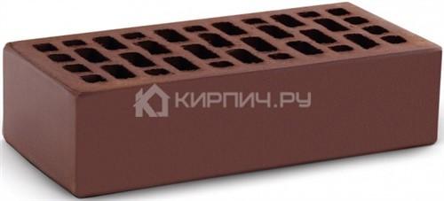Кирпич  М-150 шоколад одинарный гладкий КС-Керамик в
