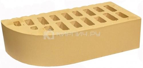 Кирпич для фасада слоновая кость одинарный гладкий фасонный внеш.угол М-150 БКЗ цена