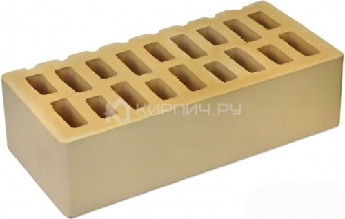 Кирпич  М-150 слоновая кость одинарный гладкий Тон 1 БКЗ цена