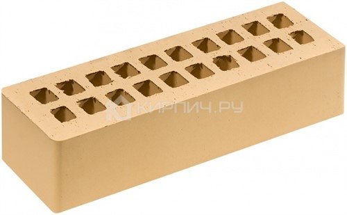 Кирпич для фасада солома золотистый евро гладкий М-200 Липецк
