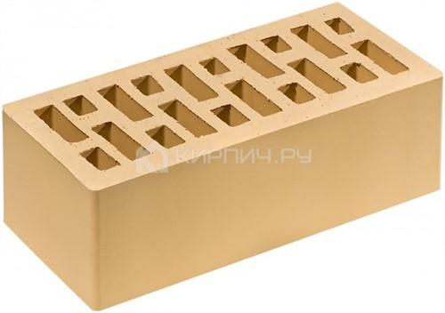 Кирпич для фасада солома золотистый полуторный гладкий М-200 Липецк