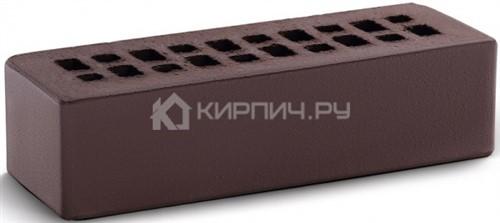 Кирпич облицовочный темный шоколад евро гладкий М-150 КС-Керамик