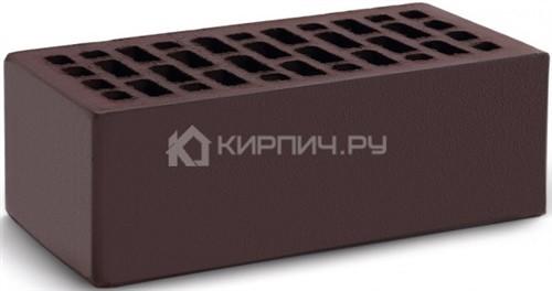 Кирпич для фасада темный шоколад полуторный гладкий М-150 КС-Керамик цена